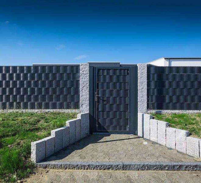 Doppelstabmatten Sichtschutz - Gartentür