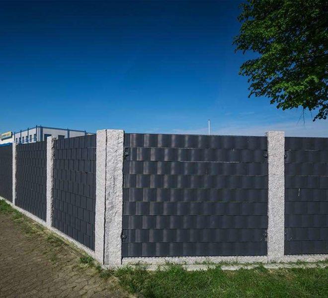 Doppelstabmatten Sichtschutz - Ecke
