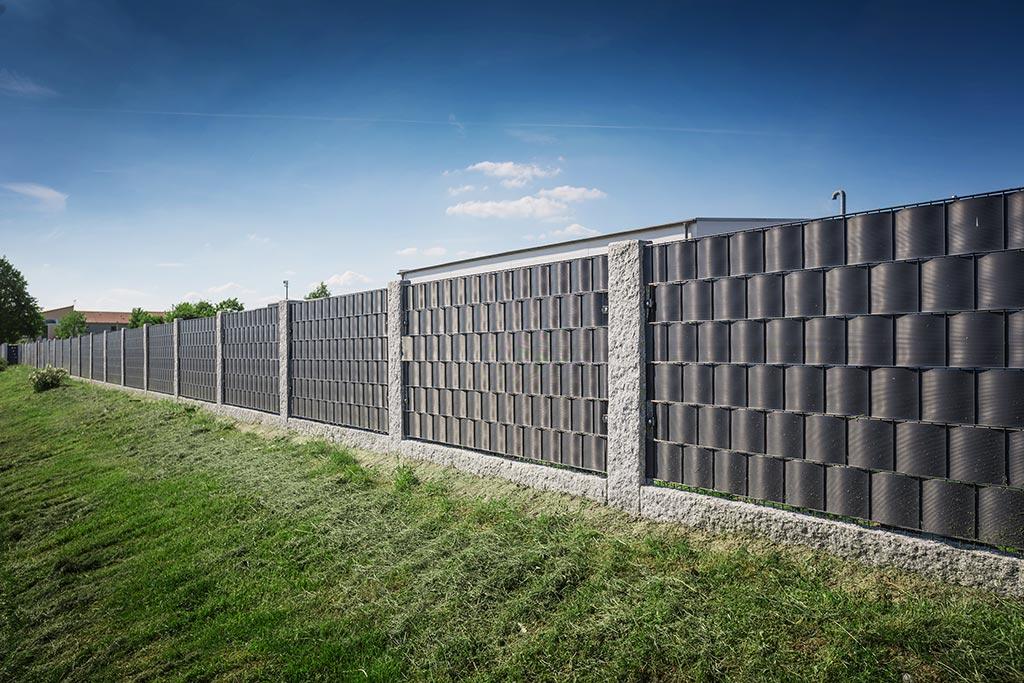 Ein Zaun aus Doppelstabmatten verleiht keinen Sichtschutz