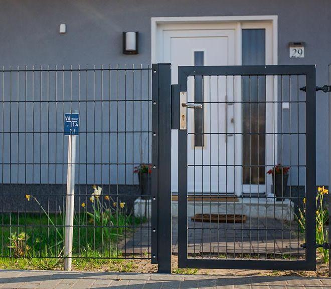 Doppelstabmatten-Gartentür rechteckig