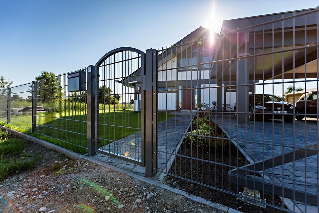 Stabmattentür - Zauntür für Stabmattenzaun aus Polen von JANMET