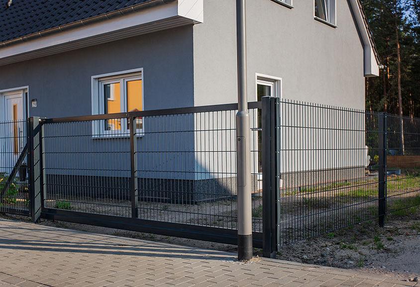 Projekt 03 – Doppelstabmatten 868 mit Gartentor und Gartentür
