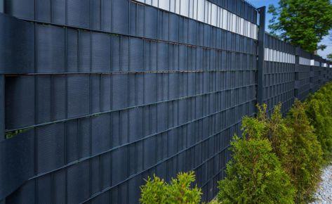 Projekt 06: Doppelstabmatten mit Anhrazit-Sichtschutz