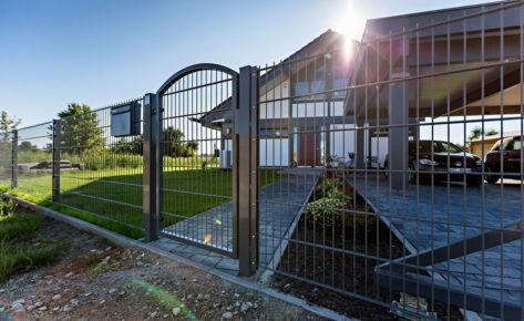 Projekt 25: Gittermatten in Anthrazit für Einfamilienhaus