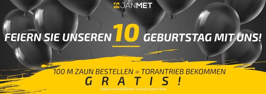 JANMET - Sonderangebot - feiern Sie mit uns